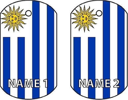 Personalised Uruguay Dog Tag Car Air Freshener
