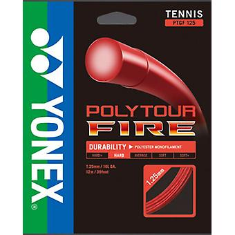 Yonex poly tour fire cable string set red 12 m