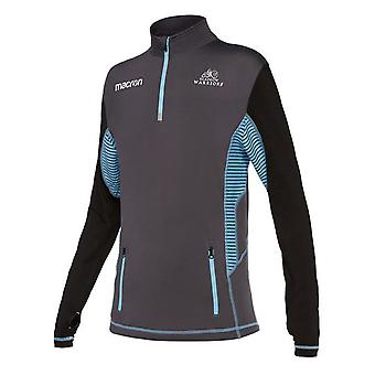 2017-2018 Glasgow Warriors Rugby Performance Softshell media Zip Top (negro)
