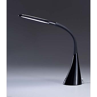 Design LED table lamp, reading lamp, dimmable 8 w. Swan II black 10285