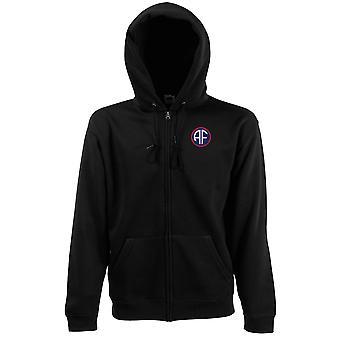 Le forze alleate HQ ricamato Logo - Felpa con cappuccio giacca con zippato