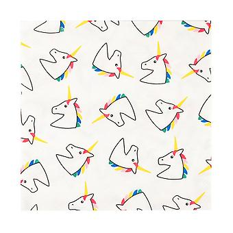 Unicorn Paper Napkins Pack of 20 - Unicorn Themed Partyware