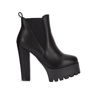 Attitude Clothing Pull On Platform Ankle Boot