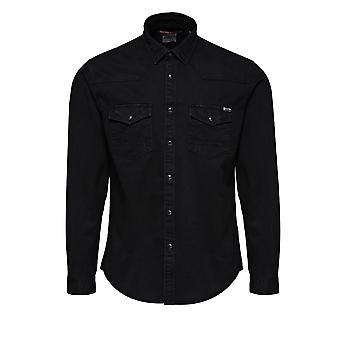 Jack and Jones Oakland Colour Black Casual Shirt