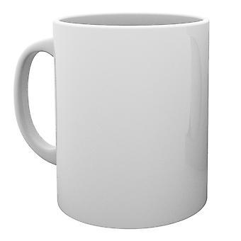 En blanco blanco taza