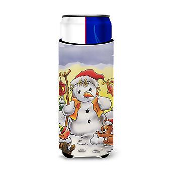 Scarecrow Snowman Ultra Beverage Insulators for slim cans