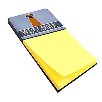 Carolines Treasures  BB5696SN Fawn Boxer Welcome Sticky Note Holder