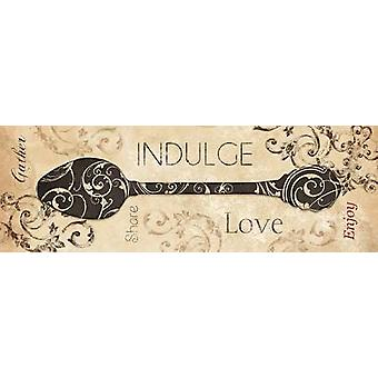 Indulge Poster Print by Dee Dee (36 x 12)