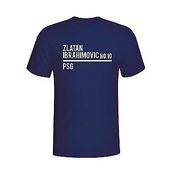 Zlatan Ibrahimovic Psg Escuadrón camiseta (Armada)