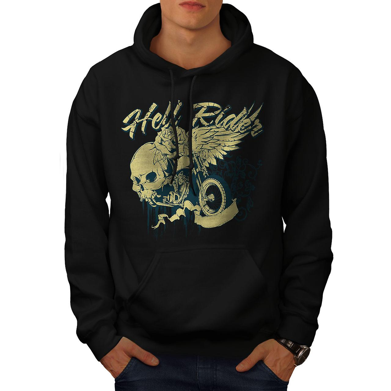 Hell RIder Metal Biker Men Black Hoodie | Wellcoda