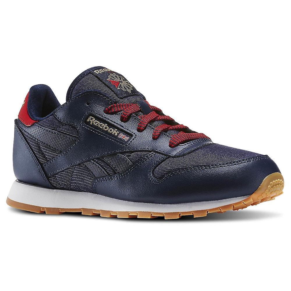 Reebok Navyredchalkgum CL Leather DG N AR2042 universal all year kids shoes