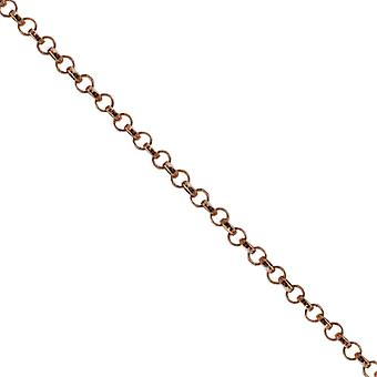 Oro 9ct Rose 2,2 mm largo rotondo collegato Belcher ciondolo catena 16 pollici adatto solo per bambini