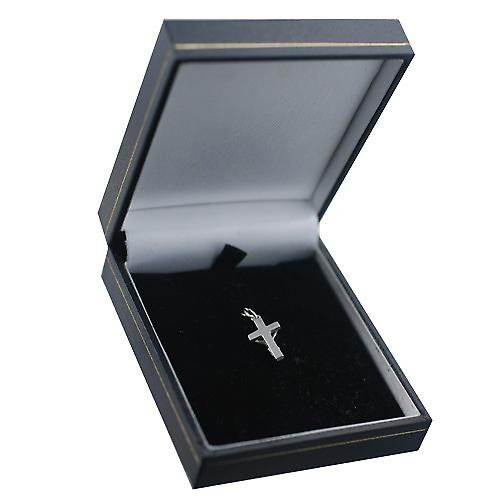 Silver 17x10mm solid block Crucifix Cross