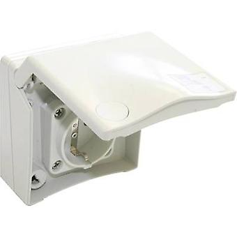Surface-mount socket Suitable for sports facilities IP44 White