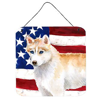 Siberian Husky Patriotic Wall or Door Hanging Prints