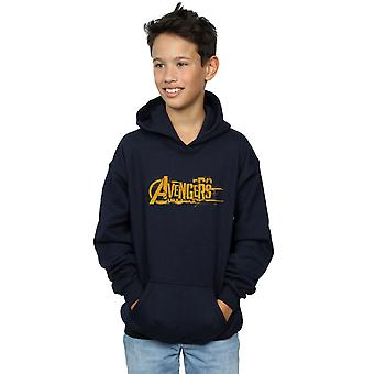 Avengers Boys Infinity War Orange Logo Hoodie