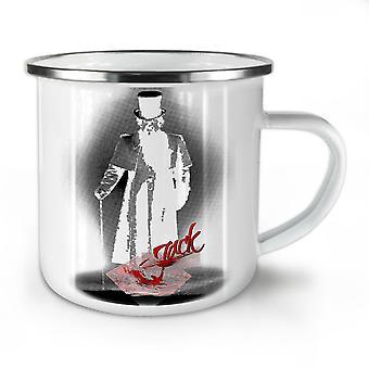 Jack die Ripper Angst vor neuen WhiteTea Kaffee Emaille Mug10 oz   Wellcoda