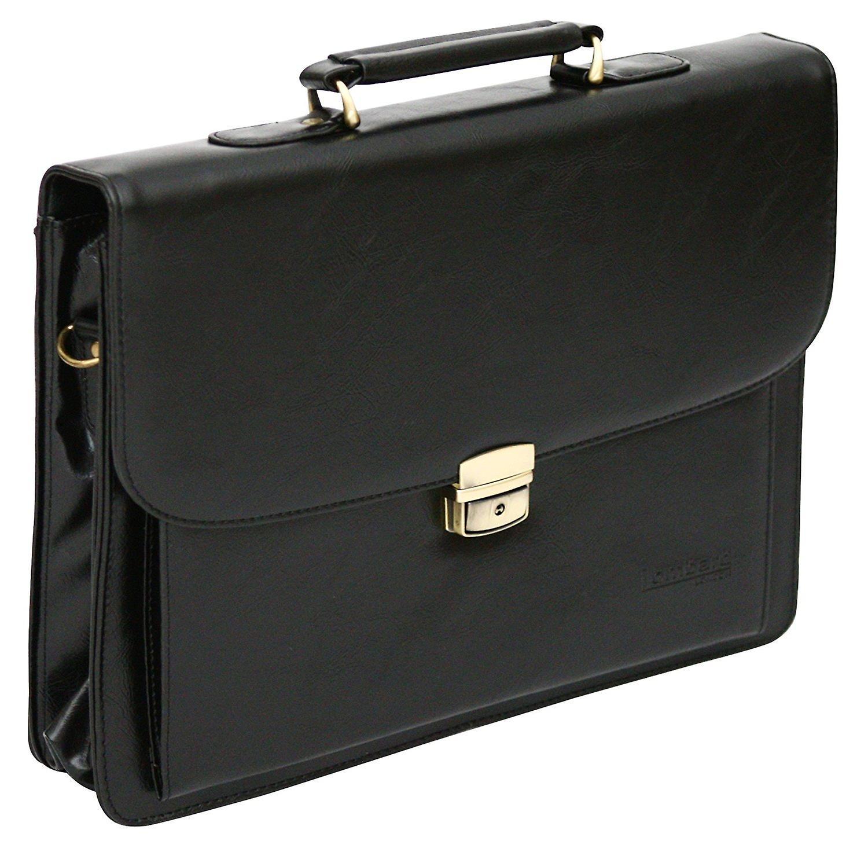 Leather Look Pu Laptop Briefcase Business Satchel Work Case Shoulder Bag
