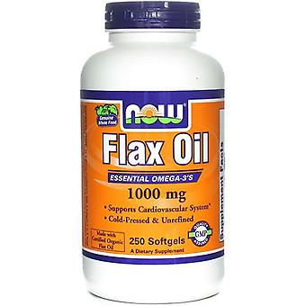 Now Foods Flax Oil 1000Mg 250 Softgels (Sport , Athlete's health , Omega 3-6-9)