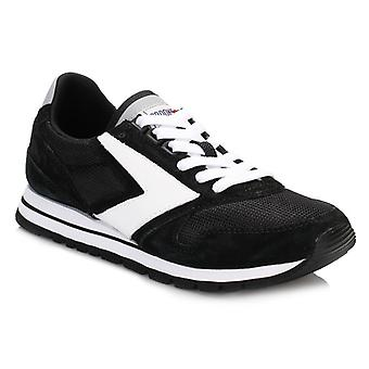 Brooks Womens Jet Black/White Chariot Trainers