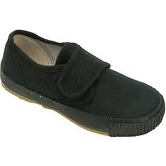 Mirak muchachos fijación 99248 Plimsoll zapatillas Trainer negro (Med)