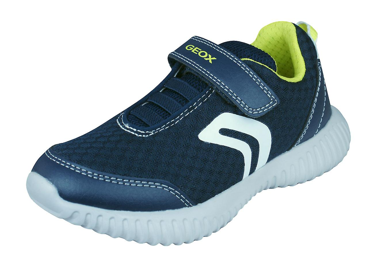 Geox Boys Trainers Shoes J Waviness B.A Casual Shoes Trainers - Navy 8d9373