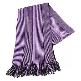 Bassin and Brown Vaughan Stripe Wool Scarf - Purple/Black