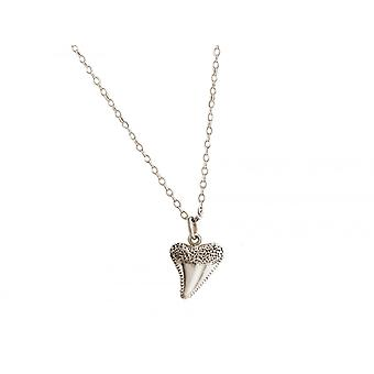 GEMSHINE Maritim Nautics necklace with shark tooth 925 Silver, high-quality gold-plated or rose in the Navy style - made in Madrid, Spain