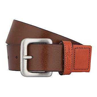 OTTO KERN belts men's belts leather belt brown/orange 2776