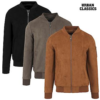 Urban classics jacket imitation suede bomber