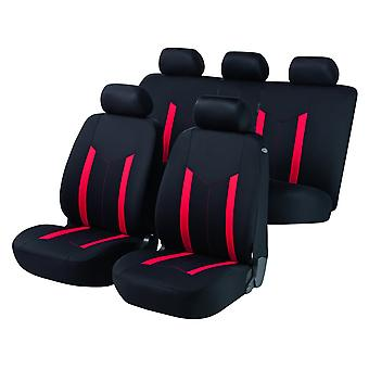 Hastings Car Seat Cover sort & rød For Nissan ALMERA Hatchback 1995-2000