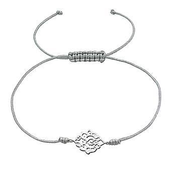 Filigraan - 925 Sterling Zilver + Nylon koord snoer armbanden - W37374X