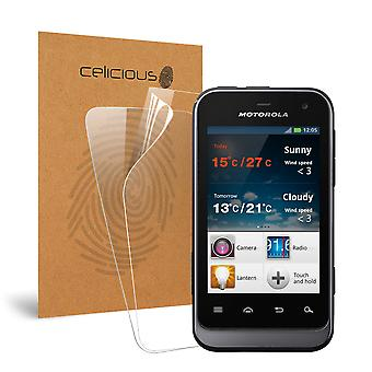 Celicious Vivid Invisible Glossy HD Screen Protector Film Compatible with Motorola Defy Mini XT320 [Pack of 2]