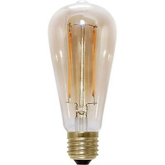 Segula LED E27 Bulged 6 W = 35 W Warm white (Ø x L) 65 mm x 145 mm EEC: A+ Filament, dimmable 1 pc(s)