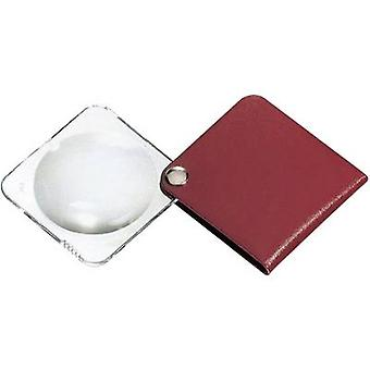 Leather folding hand magnifier Magnification: 3.5 x Lens size: (Ø) 60 mm Red Eschenbach 1752160
