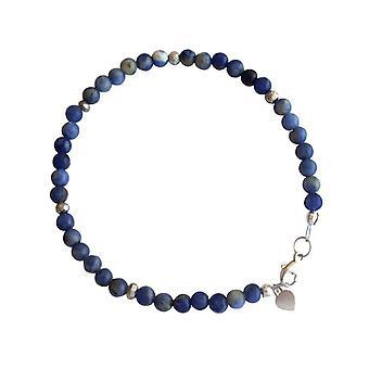 Gemshine - damene armbånd - lapis lazuli - blå - 925 sølv - 4 mm
