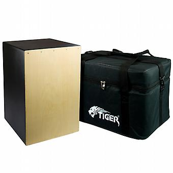World Rhythm Black Sandalwood Cajon with Bag