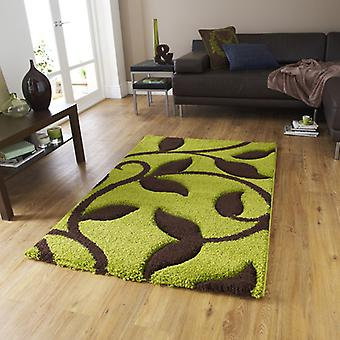 Rugs -New Art Fashion 7647 Green Brown