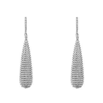 Athena Spiral Earrings Silver