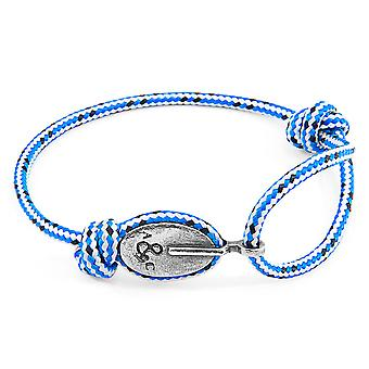 Blue Dash London Silver and Rope Bracelet