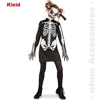Zombie costume skeleton gown skull Kids Halloween child costume