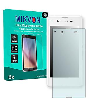 Sony Xperia E3 Dual Screen Protector - Mikvon Clear (Retail Package with accessories)
