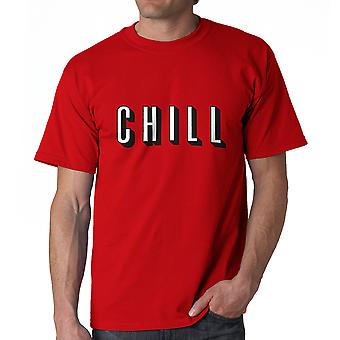 Funny Chill TV Movies Graphic Men's Red T-shirt