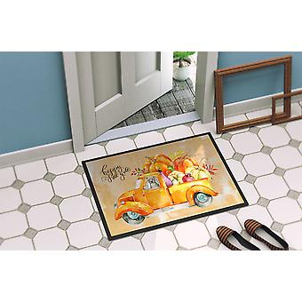 Fall Harvest Staffordshire Bull Terrier Indoor or Outdoor Mat 24x36