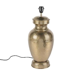 QAZQA Vintage Table Lamp Gold without Shade - Hazard B
