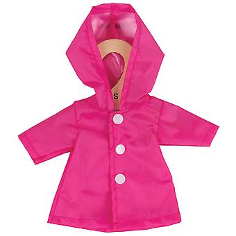 Bigjigs Toys Pink Raincoat (28cm) Clothing Outfit Dress Up