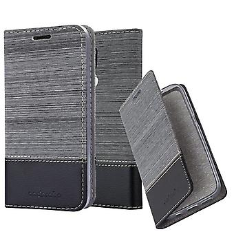 Cadorabo case for LG G7 its ThinQ - mobile case with stand function and compartment in the fabric design - case cover sleeve pouch bag book