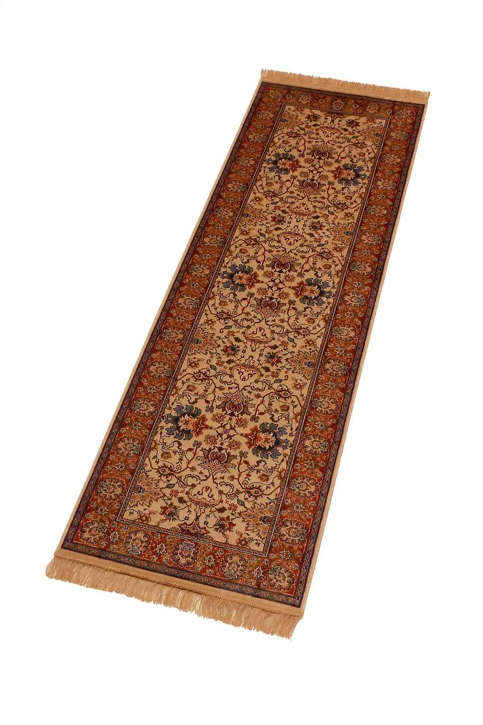 Indian Agra Artificial Faux Silk Effect Hall Runner Rugs 4620/4