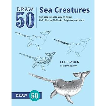 Draw 50 Sea Creatures - The Step-by-Step Way to Draw Fish - Sharks - M