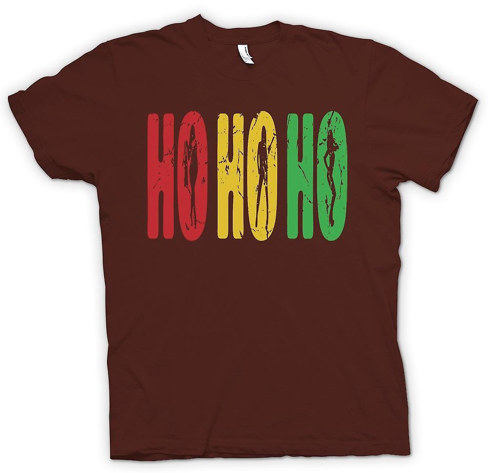 Heren T-shirt - Ho Ho Ho - grappig maar ruwe Santa